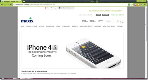 Maxis iPhone 4S