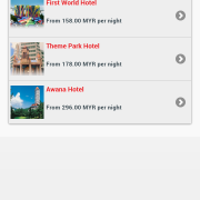 RWG App - iHoliday Booking - Select hotel