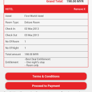 RWG App - iHoliday Booking - confirm details