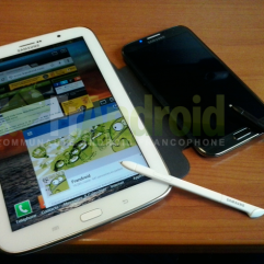 Samsung Galaxy Note 8 next to Note II