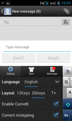 Quick settings menu for language, keyboard layout, auto correct functions and even gesture / swipe feature