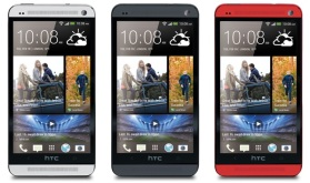 HTC One - White, Black and Red colour