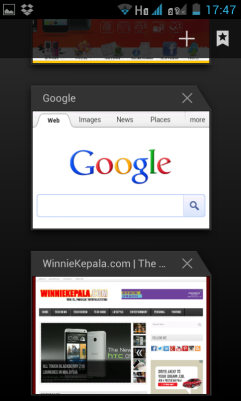 Multi tab browsing on default browser