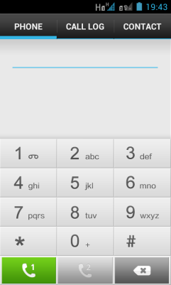 Phone keypad allows you to select to make the call using SIM1 or SIM2