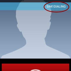 Outgoing calls shows a bar indicating whether the call is placed using SIM1 or SIM2