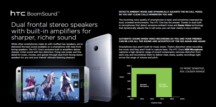 HTC One (pg 6) - HTC BoomSound