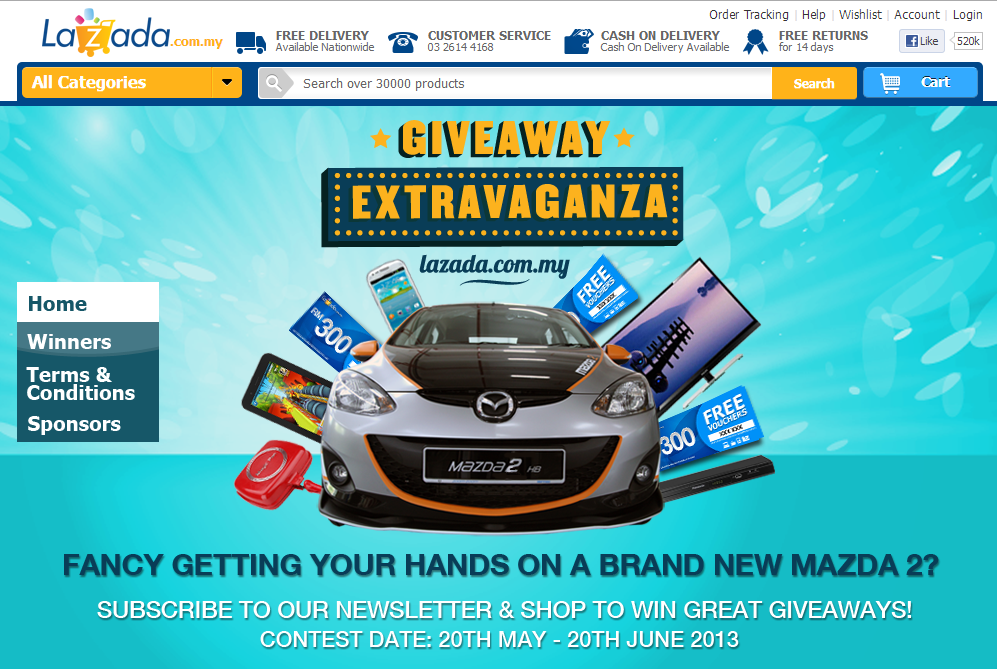"""Lazada Malaysia """"Giveaway Extravaganza"""" Contest To Win a"""