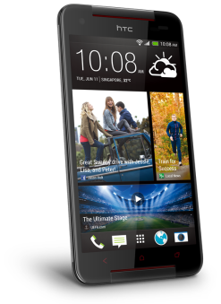 HTC Butterfly S - Metallic Grey (angled)