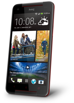 HTC Butterfly S - Fervour Red (angled)