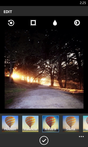 Instagram for WIndows Phone - Edit