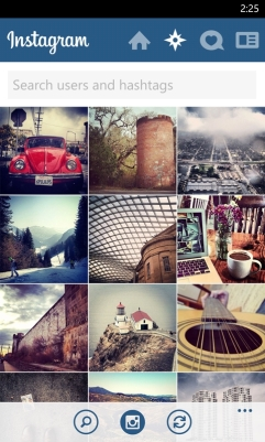 Instagram for WIndows Phone - Explore