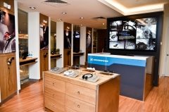 The 45-square-metre store allows Sennheiser fans to experience high-quality sound of Sennheiser products.