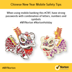 Ensure a strong password while Mobile Banking this CNY