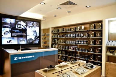 The new Sennheiser Concept Store provides an ideal setting to showcase the entire Sennheiser range.